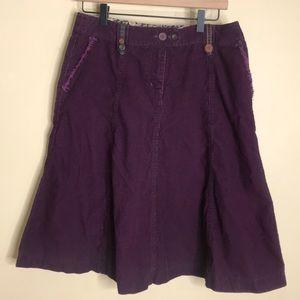 Boden purple corduroy skirt